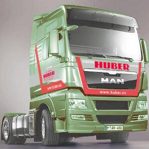 Herdesign vrachtwagenopdruk