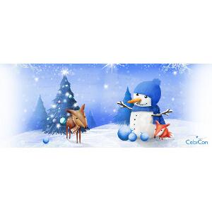 Illustratie voor een kerstmisbeker