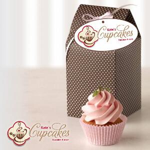 Cupcake en muffin café zoekt modern design