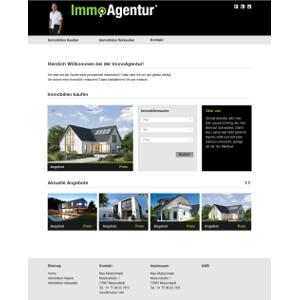 Homepage voor immobilienmakelaar