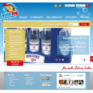 Startpagina en logo voor leveringsdienst