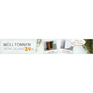 Nieuwe kop voor website 'Mülltonnenverkleidung24.de'