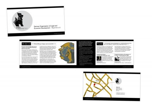 4-pagina brochure voor non-profit club
